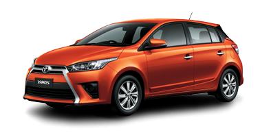 Toyota New Yaris 2014 orange metalic Toyota New Yaris 2014 ราคา โปรโมชั่น ตารางผ่อน ผ่อนเริ่มต้น 5,700 บาท