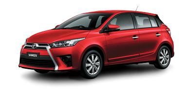 Toyota New Yaris 2014 red miga metalic Toyota New Yaris 2014 ราคา โปรโมชั่น ตารางผ่อน ผ่อนเริ่มต้น 5,700 บาท