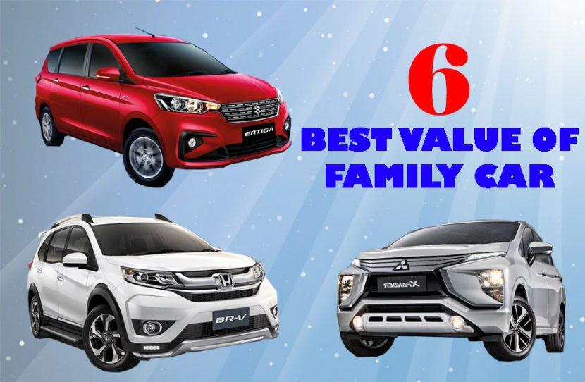 6 อันดับ รถยนต์สุดคุ้มสำหรับคนรักครอบครัว