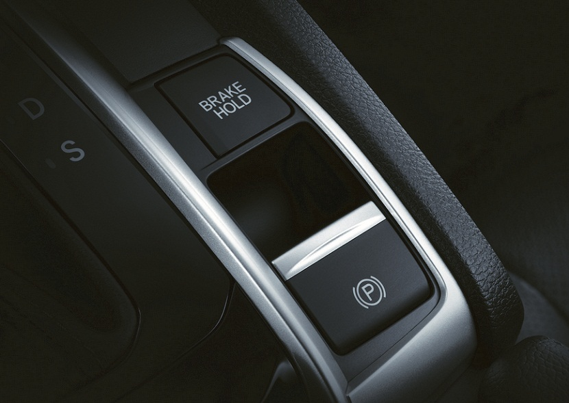 Civic Hatchback Autp Brake Hold and Electric Parking Brake เปิดตัว Honda All New Civic Hatchback Turbo ราคา 1,169,000 บาท