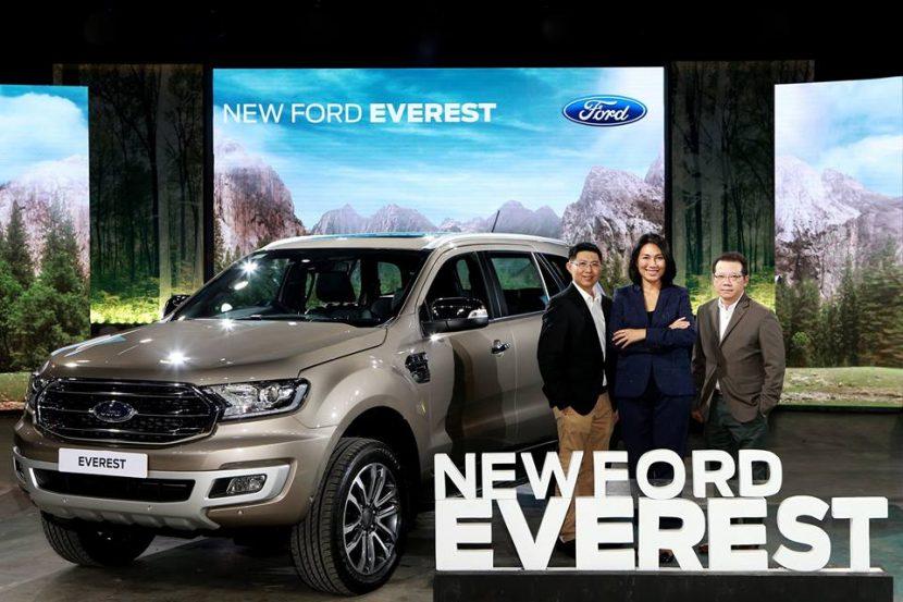 FORD Everest 2018   2019 เปิดตัวแล้ว กับเครื่องยนต์ 2.0 ลิตรและเกียร์อัตโนมัติ 10 จังหว่ะ