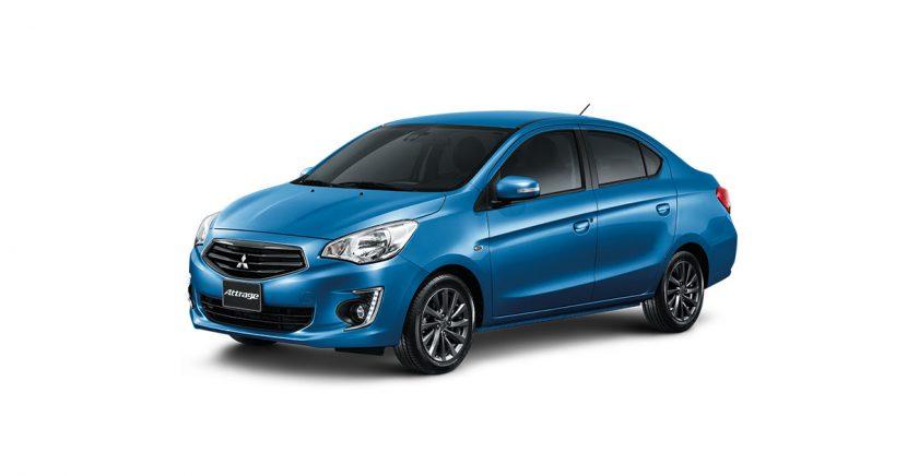 Mitsubishi Attrage มิตซูบิชิ แอททราจ 2018 CERULEAN BLUE MICA Mitsubishi Attrage   มิตซูบิชิ แอททราจ 2018 ราคาและโปรโมชั่นดอกเบี้ย 0%