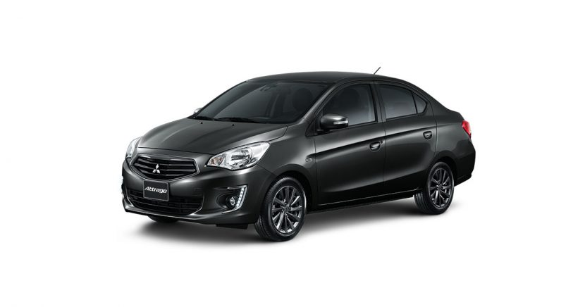 Mitsubishi Attrage มิตซูบิชิ แอททราจ 2018 PYRENESS BLACK Mitsubishi Attrage   มิตซูบิชิ แอททราจ 2018 ราคาและโปรโมชั่นดอกเบี้ย 0%