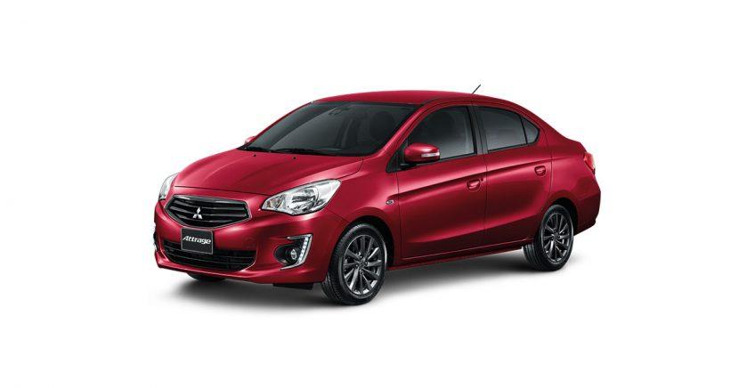 Mitsubishi Attrage มิตซูบิชิ แอททราจ 2018 WINE RED Mitsubishi Attrage   มิตซูบิชิ แอททราจ 2018 ราคาและโปรโมชั่นดอกเบี้ย 0%