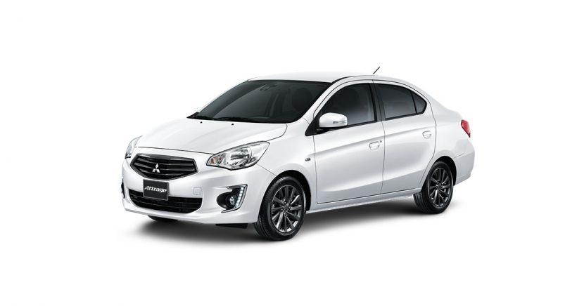 Mitsubishi Attrage มิตซูบิชิ แอททราจ 2018 White Pearl  Mitsubishi Attrage   มิตซูบิชิ แอททราจ 2018 ราคาและโปรโมชั่นดอกเบี้ย 0%