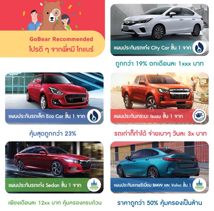 [Advertorial] ประกันรถยนต์ชั้น 1 ที่ไหนดี? GoBear มีคำตอบให้คนรักรถ!