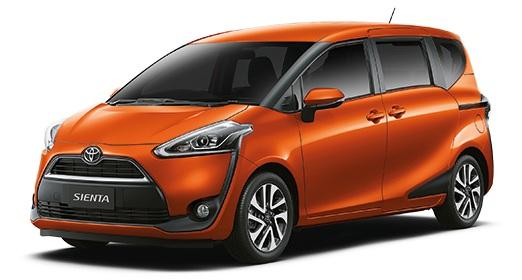 Sienta ส้ม Toyota Sienta โปรโมชั่น ตารางผ่อน เริ่มต้น 9,833 บาท