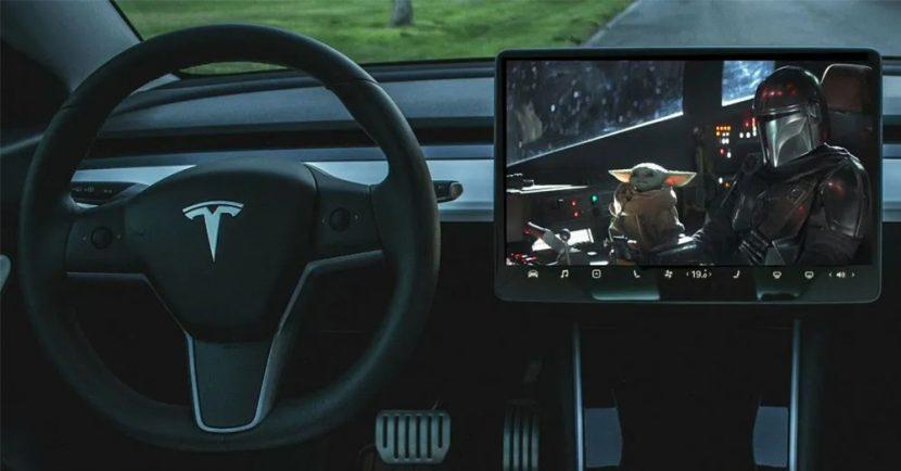 Tesla เพิ่ม Disney Plus เข้าสู่โหมดโรงหนัง