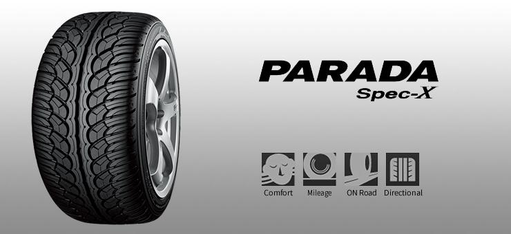 YOKOHAMA PARADA Spec X เร้าใจด้วยลายยาง มั่นคงด้วยการออกแบบ