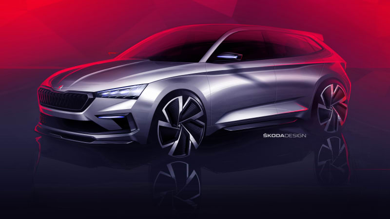 Skoda เผยรูปคอนเซ็ปต์ใหม่แรก Vision RS Concept เตรียมโชว์ Paris Motor Show ตุลาคม