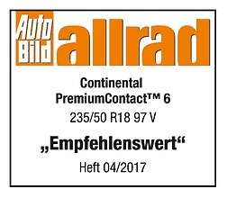 premiumcontact 6 testarticle autobild allrad 2017 preview Continental PremiumContact™ 6 เงียบทนเกินราคา