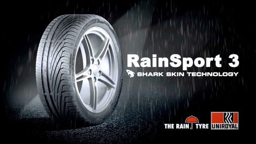 Uniroyal RainSport 3 ยางรถยนต์เทคโนโลยีหนังฉลาม