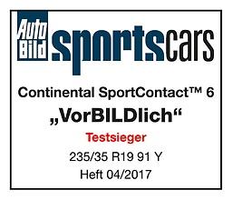 Continental SportContact 6 เต็มสมรรถนะระดับพรีเมี่ยม