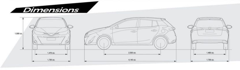 yaris dimention TOYOTA YARIS 2018 vs SUZUKI SWIFT 2018 หมัดต่อหมัดกับศึก Eco car